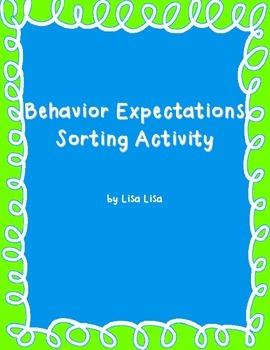 Behavior Expectations Sorting Activity