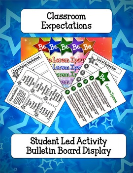 Behavior Expectations Student Led Activity