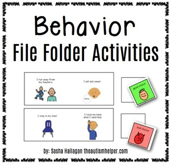 Behavior File Folder Activities