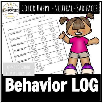 Behavior Home to school Log