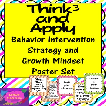 Growth Mindset Posters (20) & Behavioral Intervention Stra