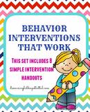 Behavior Interventions that Work