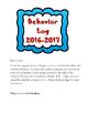 Behavior Log 2016-2017