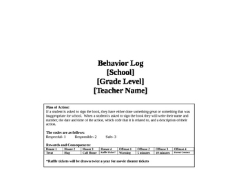 Behavior Log Book: Part Two of the Behavior Calendars (for