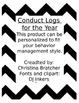 Behavior Log / Conduct Log