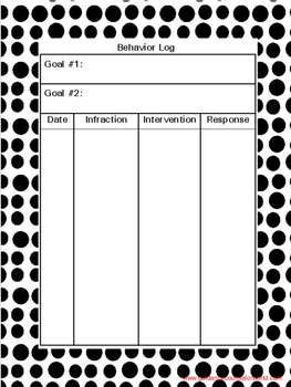Behavior Log with Goal-Setting