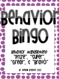 Behavior Management Bingo