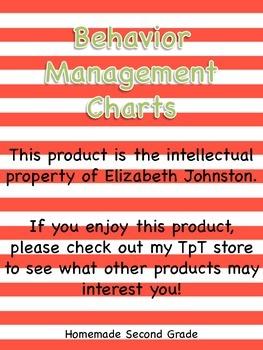 Behavior Management Charts