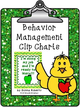 Behavior Management Clip Charts and Calendars 10 themes