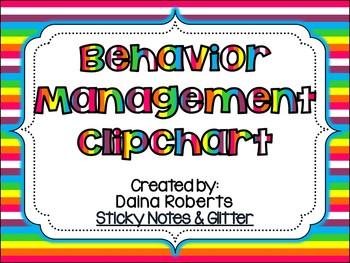 Behavior Management Clipchart Pack {Rainbows & Owls}