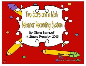 Behavior Management Recording System