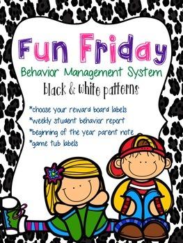 Behavior Management System {Fun Friday}