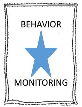 Behavior Monitoring Sheets