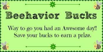 Behavior Plan - Bee/Bug Themed