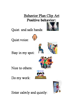 Behavior Plan Clip Art