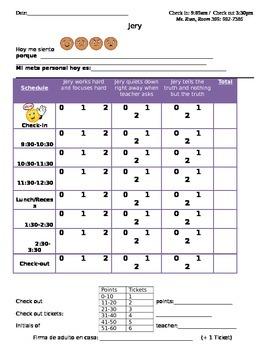 Behavior Point Sheet System
