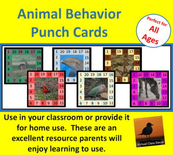 Behavior Punch Cards - Animal Set 2