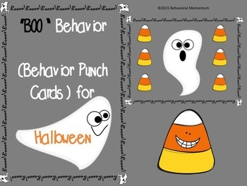 "Behavior Punch Cards (""Boo"" Behavior for Halloween)"