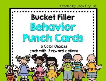 Behavior Punch Cards {Bucket Fillers}