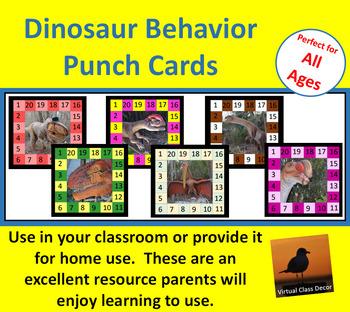 Behavior Punch Cards - Dinosaurs Set 2