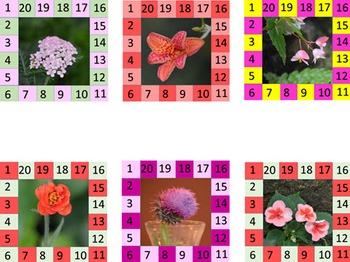 Behavior Punch Cards - Flowers Set 5