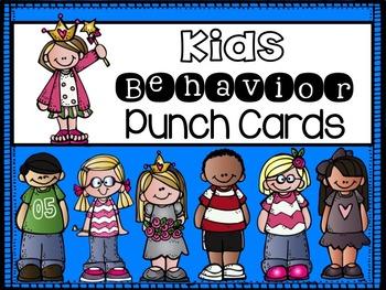 Behavior Punch Cards {Kids Theme}