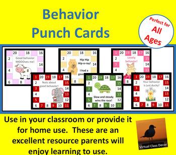 Behavior Punch Cards Set 4
