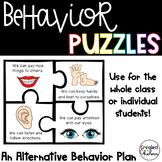 Behavior Puzzles- An Alternative Behavior Plan