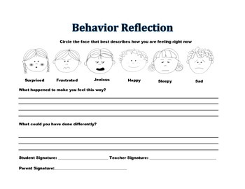 behavior reflection worksheet free worksheets library download and print worksheets free on. Black Bedroom Furniture Sets. Home Design Ideas