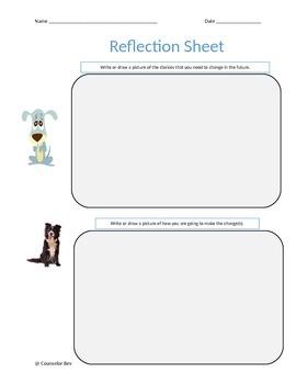 Behavior Reflection Sheet - Primary  3 Different PBIS Guid