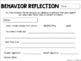 Behavior Reflection Slip