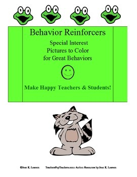 Behavior Reinforcers: Special Interest Pictures to Color f