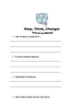 Behavior Responsibility Form