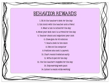 Behavior Rewards: Easy Ideas Students Love!