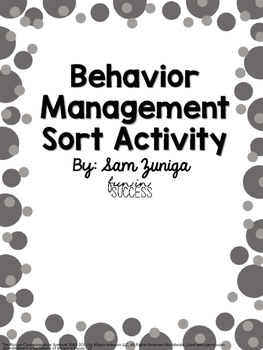 Behavior Sort Activity