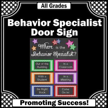 Behavior Specialist Office Door Sign Back to School Gift I