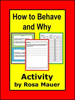 behavior Unit School Activity