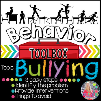 Behavior Toolbox: BULLYING, Positive RtI SEL Counseling Cl