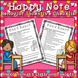"Behavior incentive: ""Happy note"" to parents"