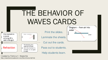 Behavior of Waves Task Cards and Student Graphic Organizer