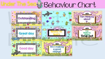 Behaviour / Behavior Chart - Under The Sea