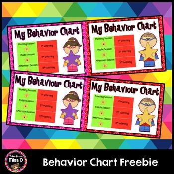 Behavior Charts Freebie