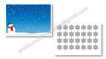 Behaviour Printable: Christmas Snowflakes on Winter Scene