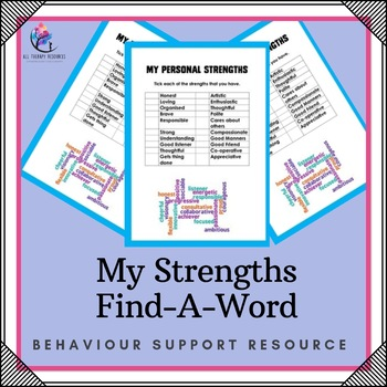 Behaviour Support: My Strengths Find-A-Word