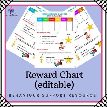Behaviour Support: Reward Chart (editable)