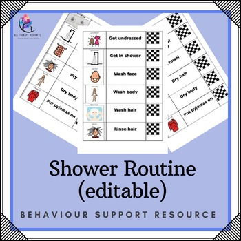 Behaviour Support: Shower Routine Editable Program