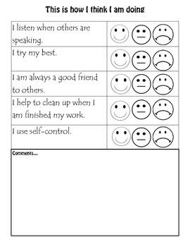Behavioural Self-Checklist
