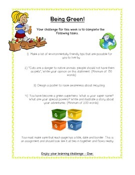 Environmental Education - English project, Middle Years, E