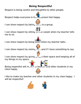 Being Respectful Social Story