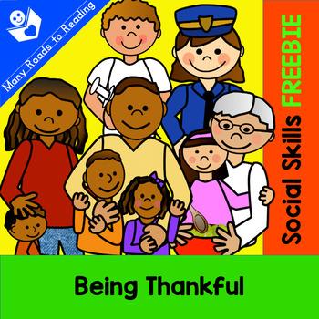 Social Skills: Being Thankful FREEBIE